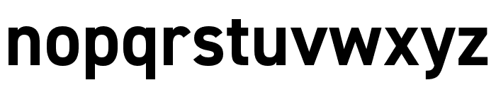 DIN 2014 Narrow Bold Font LOWERCASE