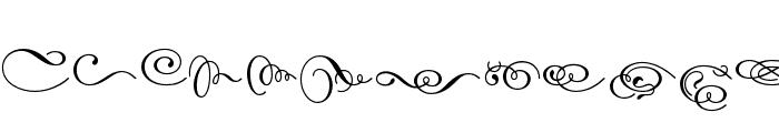 Dalliance OT Script Display Font UPPERCASE
