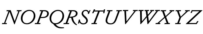 Dapifer BookItalic Font UPPERCASE