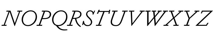 Dapifer LightItalic Font UPPERCASE