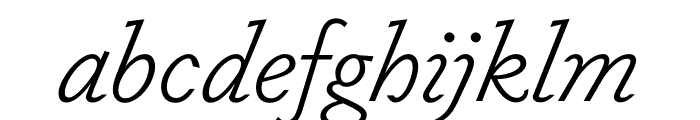 Dapifer LightItalic Font LOWERCASE