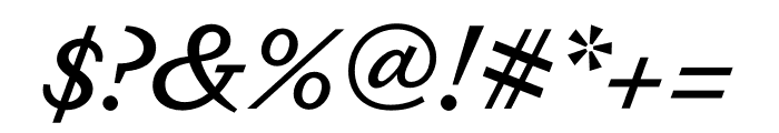 Dapifer MediumItalic Font OTHER CHARS