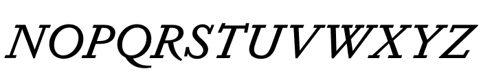 Dapifer MediumItalic Font UPPERCASE