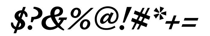 Dapifer SemiboldItalic Font OTHER CHARS