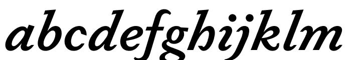 Dapifer SemiboldItalic Font LOWERCASE