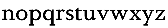 DapiferStencil Medium Font LOWERCASE