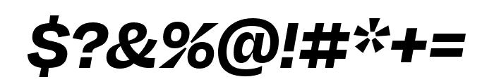 Degular Bold Italic Font OTHER CHARS