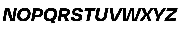 Degular Bold Italic Font UPPERCASE