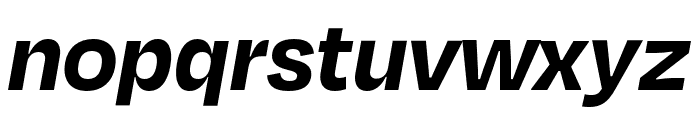 Degular Bold Italic Font LOWERCASE