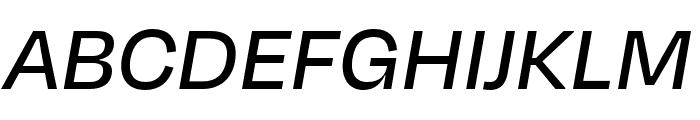 Degular Text Medium Italic Font UPPERCASE