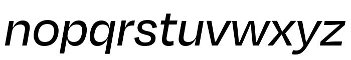 Degular Text Medium Italic Font LOWERCASE
