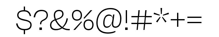 Degular Thin Font OTHER CHARS