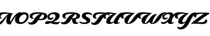 Delaney Black Font UPPERCASE