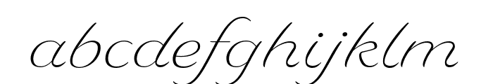 Delaney Light Font LOWERCASE