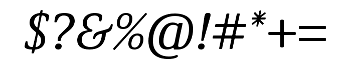 Demos Next Pro Italic Font OTHER CHARS