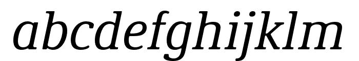 Demos Next Pro Italic Font LOWERCASE