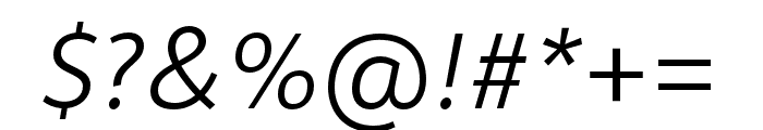 Depot New Condensed Light Italic Font OTHER CHARS