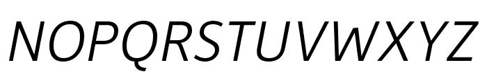 Depot New Condensed Light Italic Font UPPERCASE
