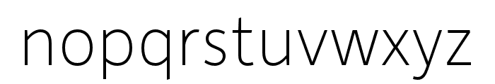 Depot New Condensed Thin Font LOWERCASE