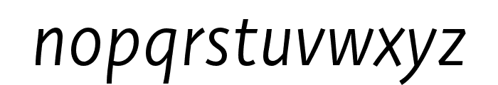 Deva Ideal Ideal Book Italic Font LOWERCASE