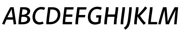 Deva Ideal Ideal Regular Italic Font UPPERCASE