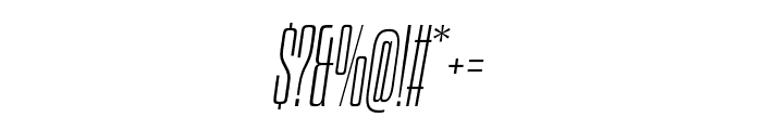 Dharma Gothic E ExLight Italic Font OTHER CHARS