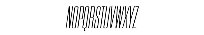 Dharma Gothic E ExLight Italic Font UPPERCASE