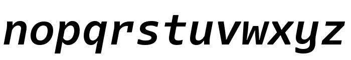 Dico Code One Bold Italic Font LOWERCASE