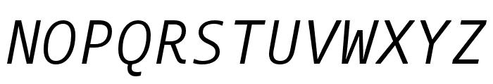 Dico Code One Italic Font UPPERCASE