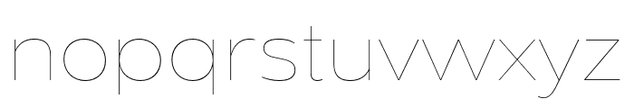 Dienstag Hairline Font LOWERCASE