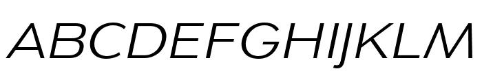 Dienstag Regular Italic Font UPPERCASE