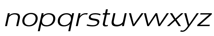 Dienstag Regular Italic Font LOWERCASE