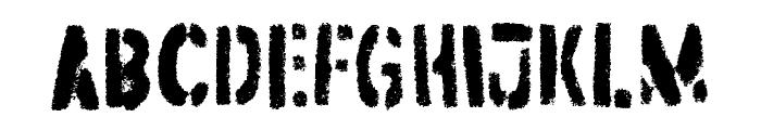 Dirtstorm Regular Font UPPERCASE