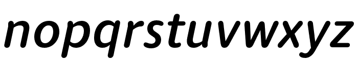 Dita Medium Italic Font LOWERCASE