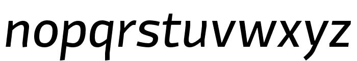 Divenire Regular Italic Font LOWERCASE