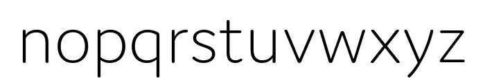 Domus Extralight Font LOWERCASE