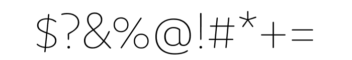 Domus Ultralight Font OTHER CHARS