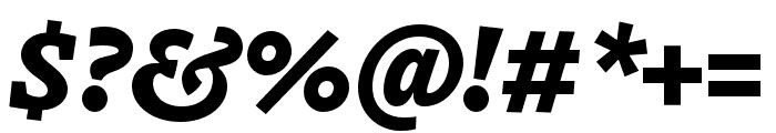Dovetail MVB Heavy Italic Font OTHER CHARS