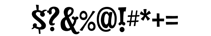 Dry Cowboy Regular Font OTHER CHARS