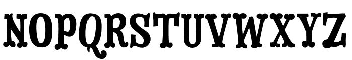 Dry Cowboy Regular Font UPPERCASE