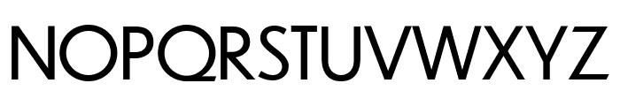 Dunbar Low Book Font UPPERCASE