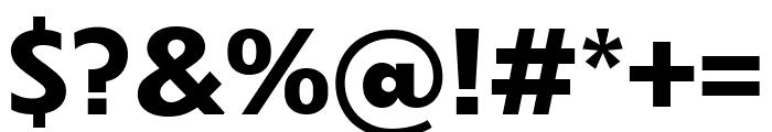 Dunbar Text Bold Font OTHER CHARS