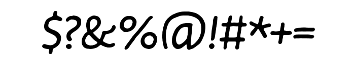 Duper Pro Regular Italic Font OTHER CHARS