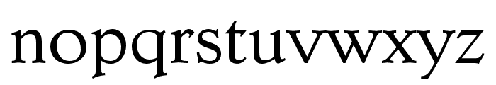 Dutch Mediaeval Pro Regular Font LOWERCASE