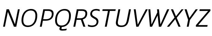 Ebony Light Italic Font UPPERCASE
