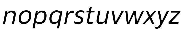 Ebony Light Italic Font LOWERCASE
