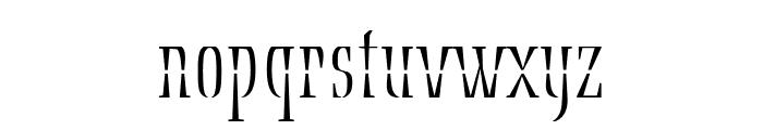 Ecru Regular Font LOWERCASE