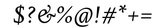 Edita Small Text Italic Font OTHER CHARS