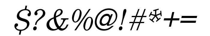 Egizio URW Regular Italic Font OTHER CHARS