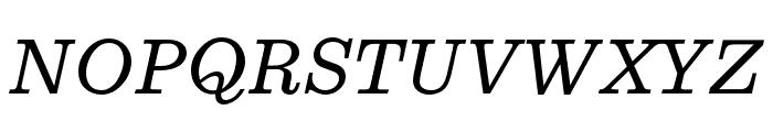 Egizio URW Regular Italic Font UPPERCASE